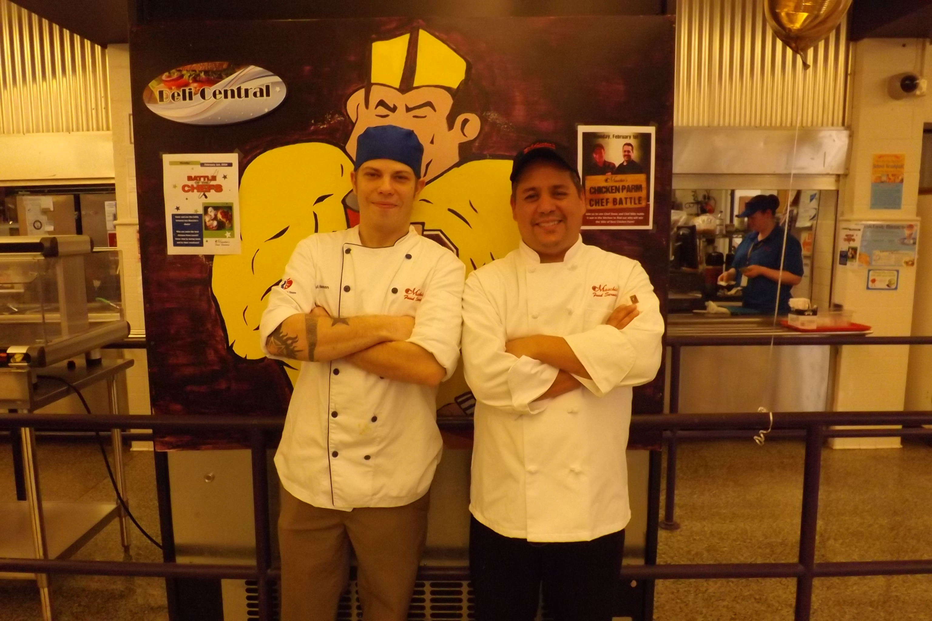 Pictured from left: Corporate Chef Michael Herman and Garfield Chef Steve Escobedo