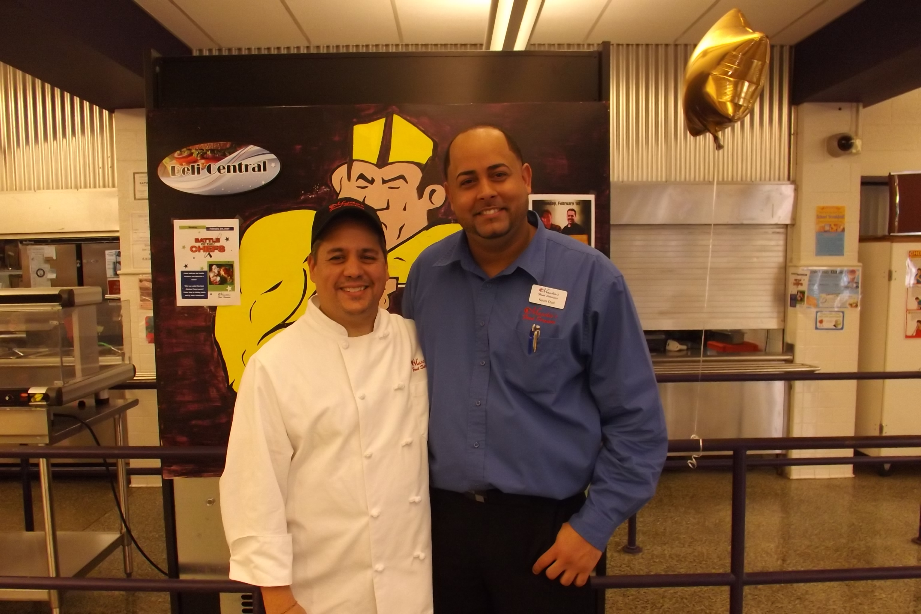 Garfield Chef Steve Escobedo and Area Supervisor Kevin Dyal