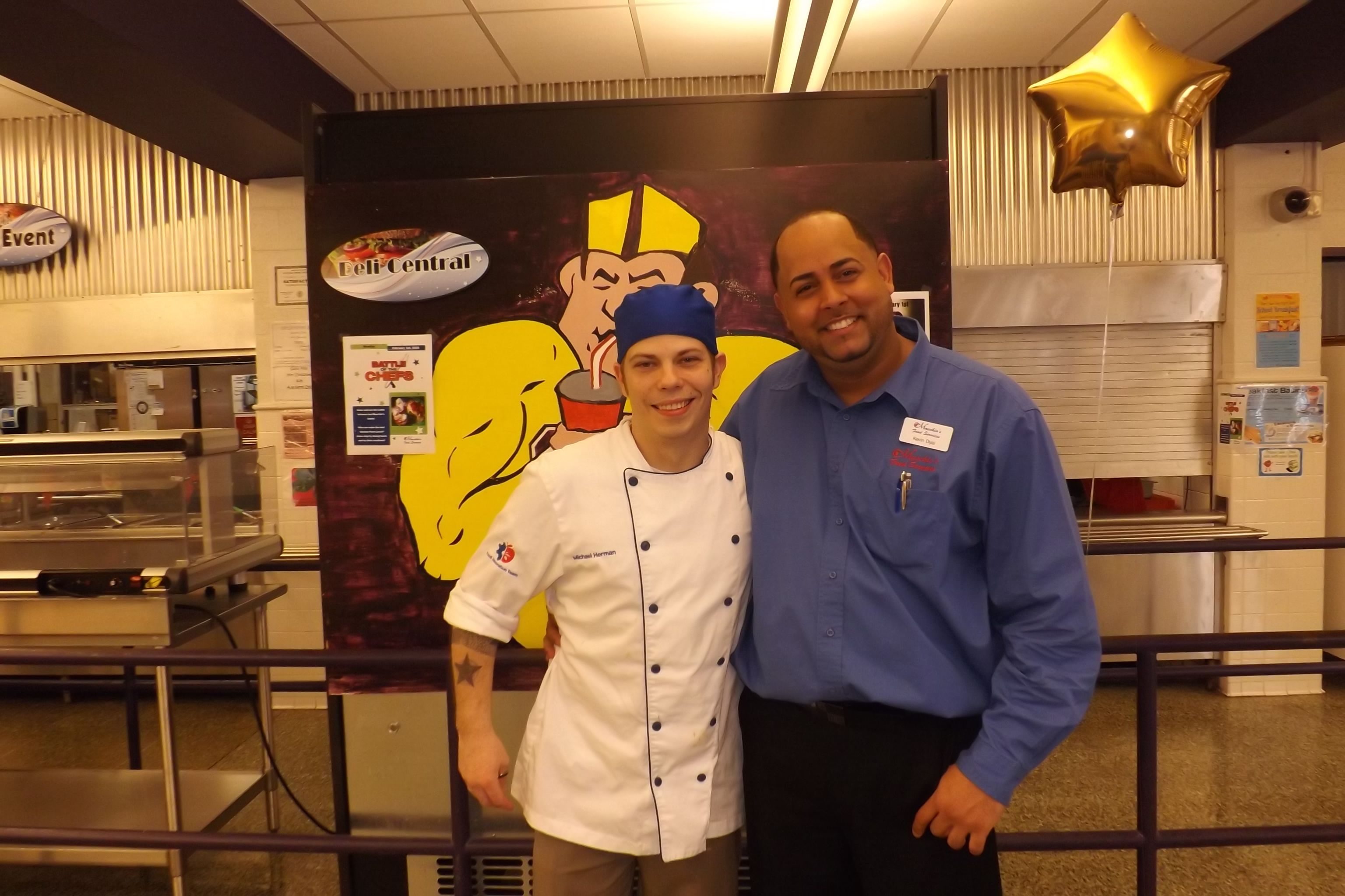 Corporate Chef Michael Herman and Area Supervisor Kevin Dyal
