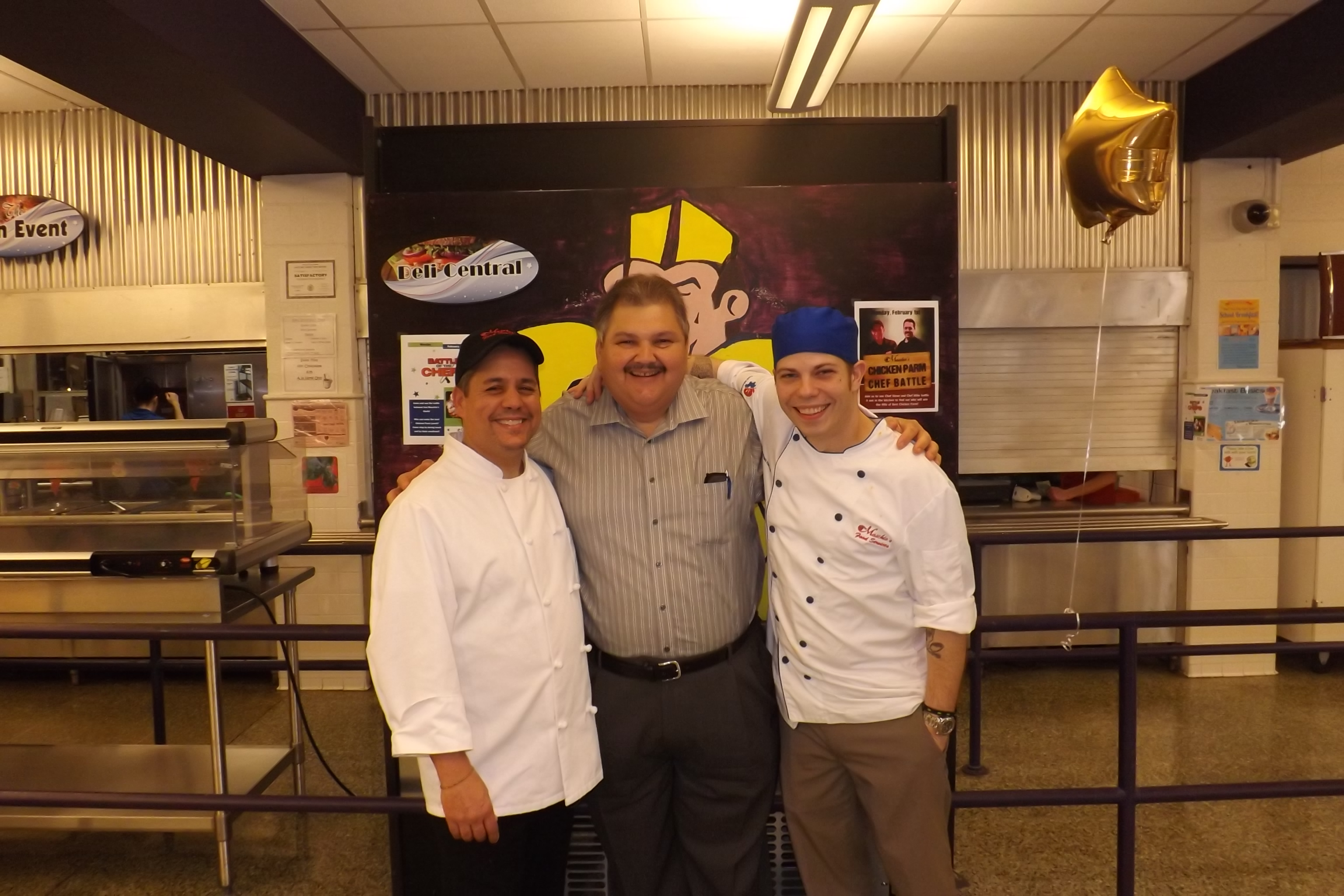 Garfield Chef Steve Escobedo and Corporate Chef Michael Herman pictured with Maschio's President, Frank Maschio