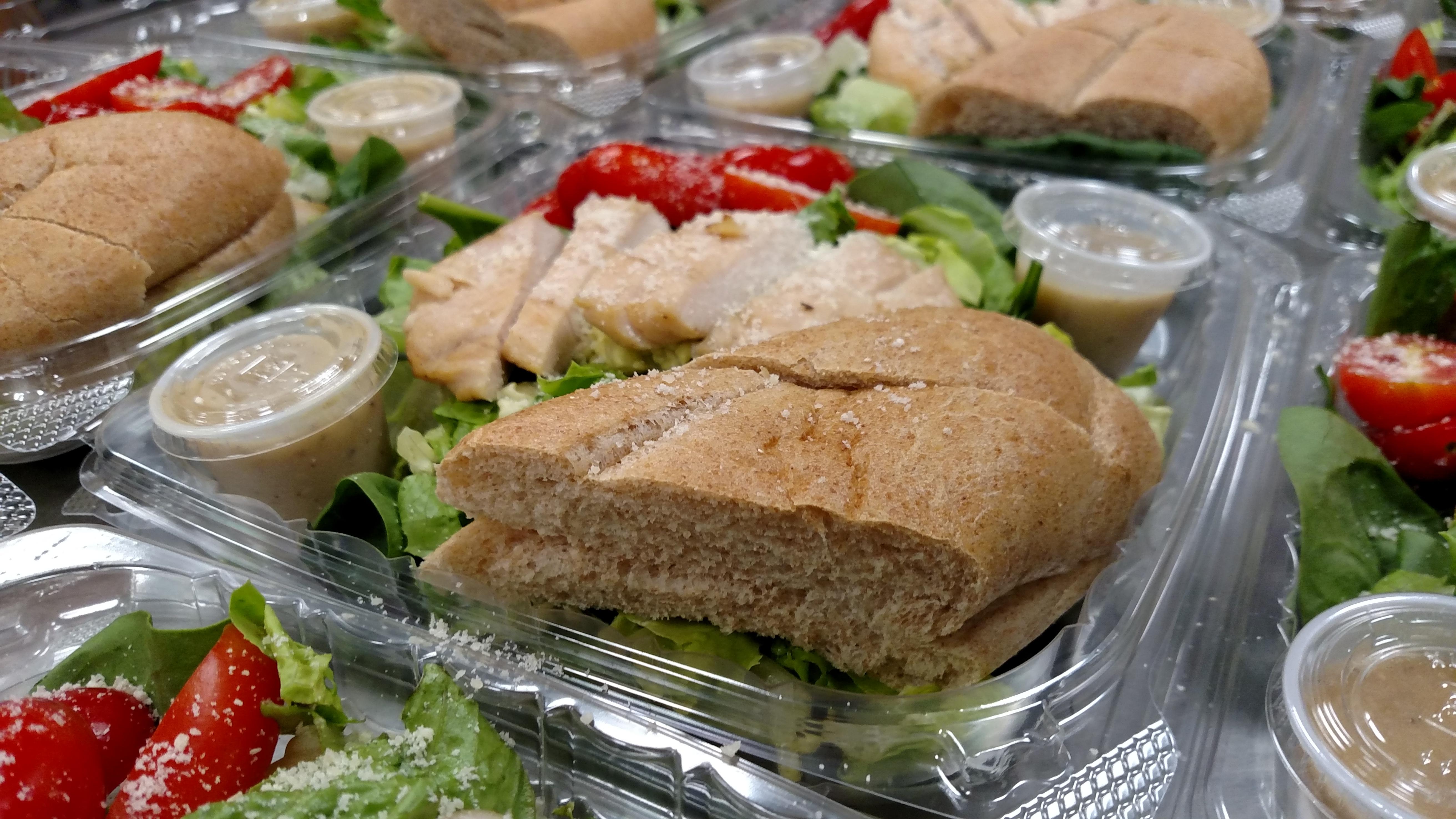 Freshly Prepared Salads for the Keansburg Dinner Program.